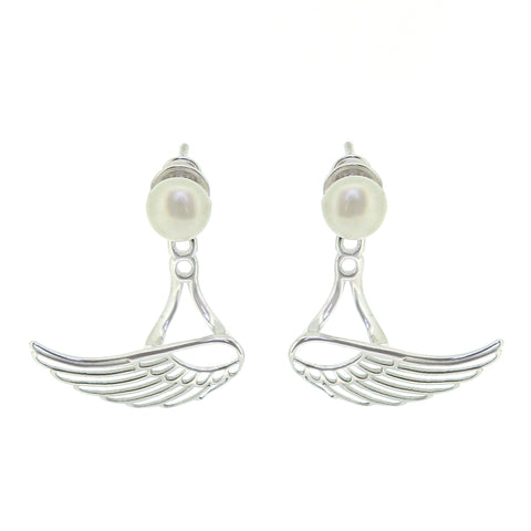 Pearl Winged Earrings