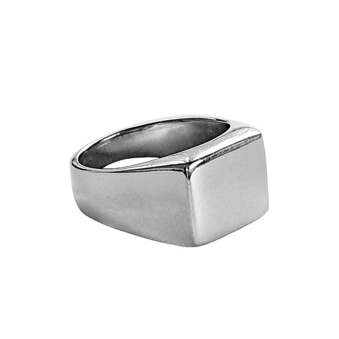 Square Silver Signet Ring