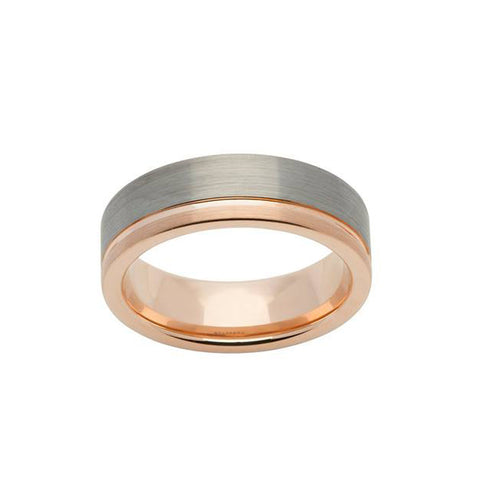 Tungsten & Rose Gold Ring