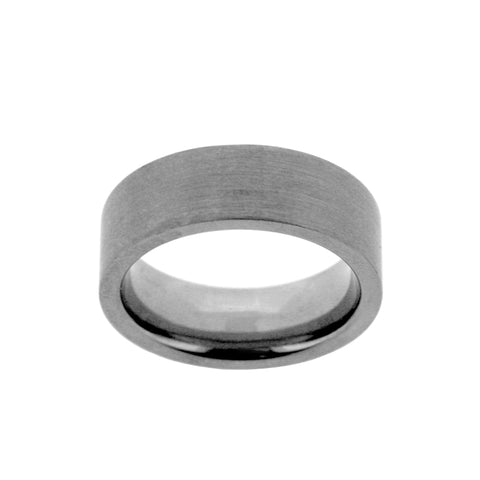 Titanium Flat Court Matte Ring