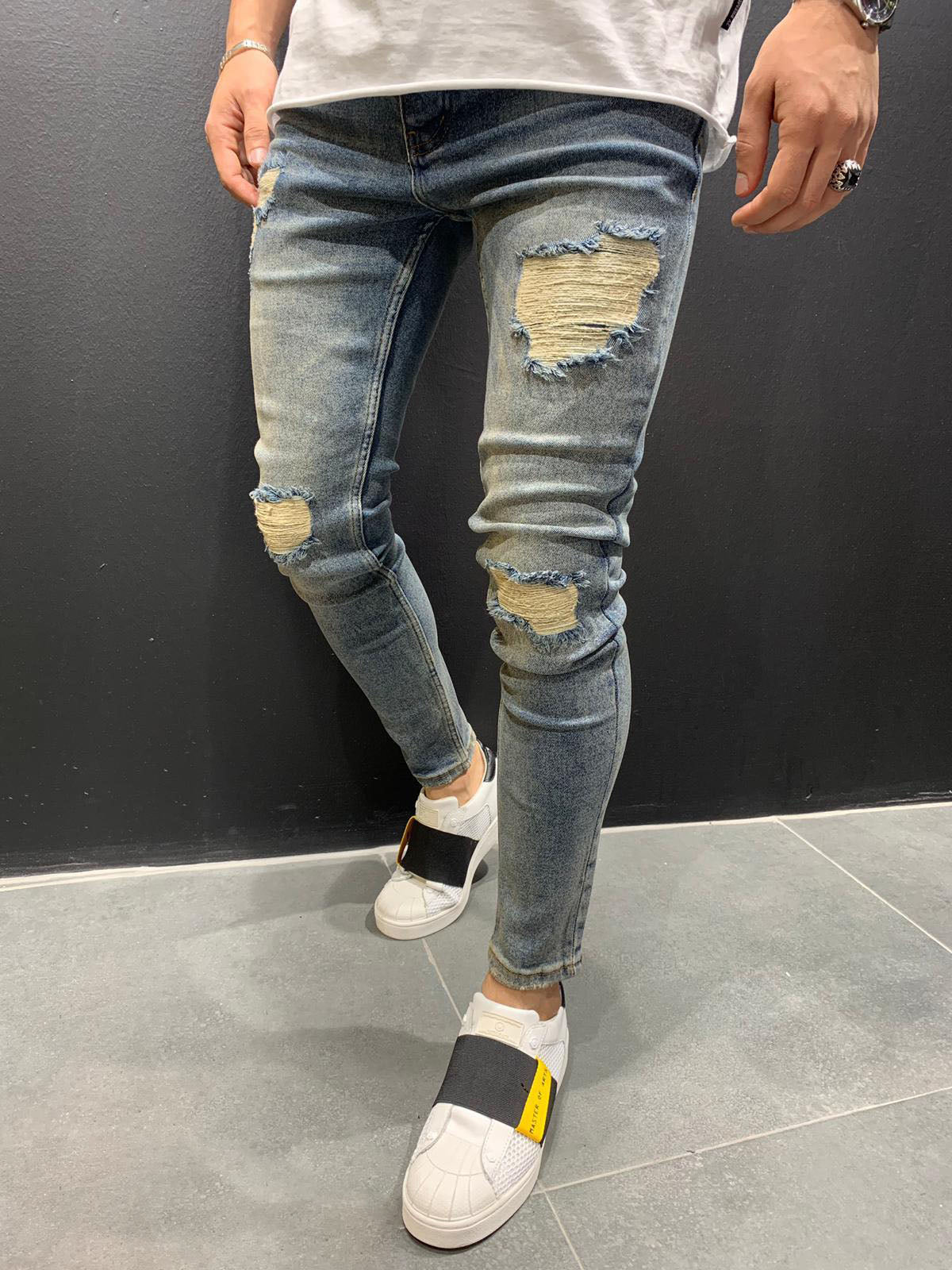 Destroyed Skinny Denim 0093