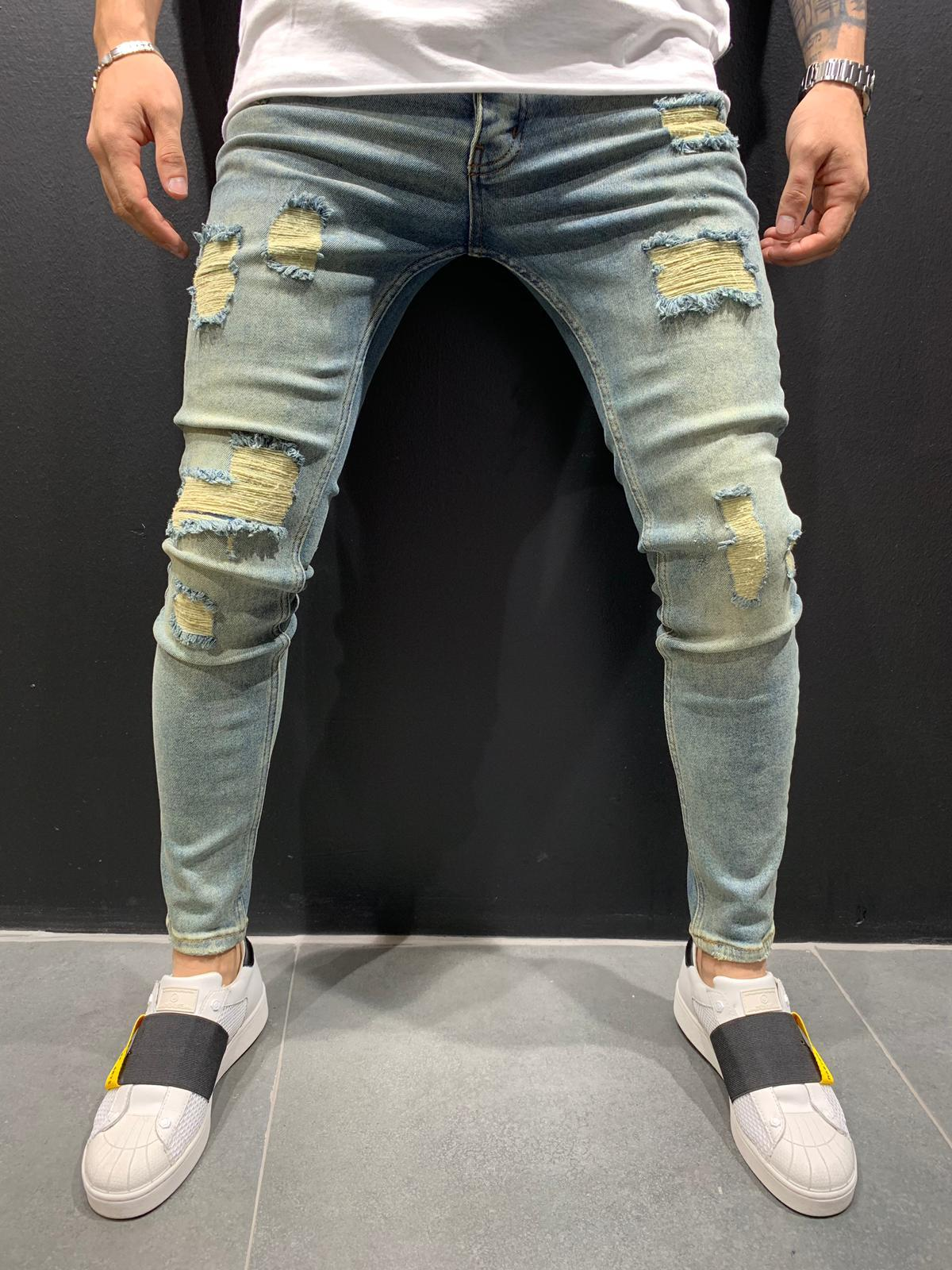 Destroyed Skinny Denim 0095