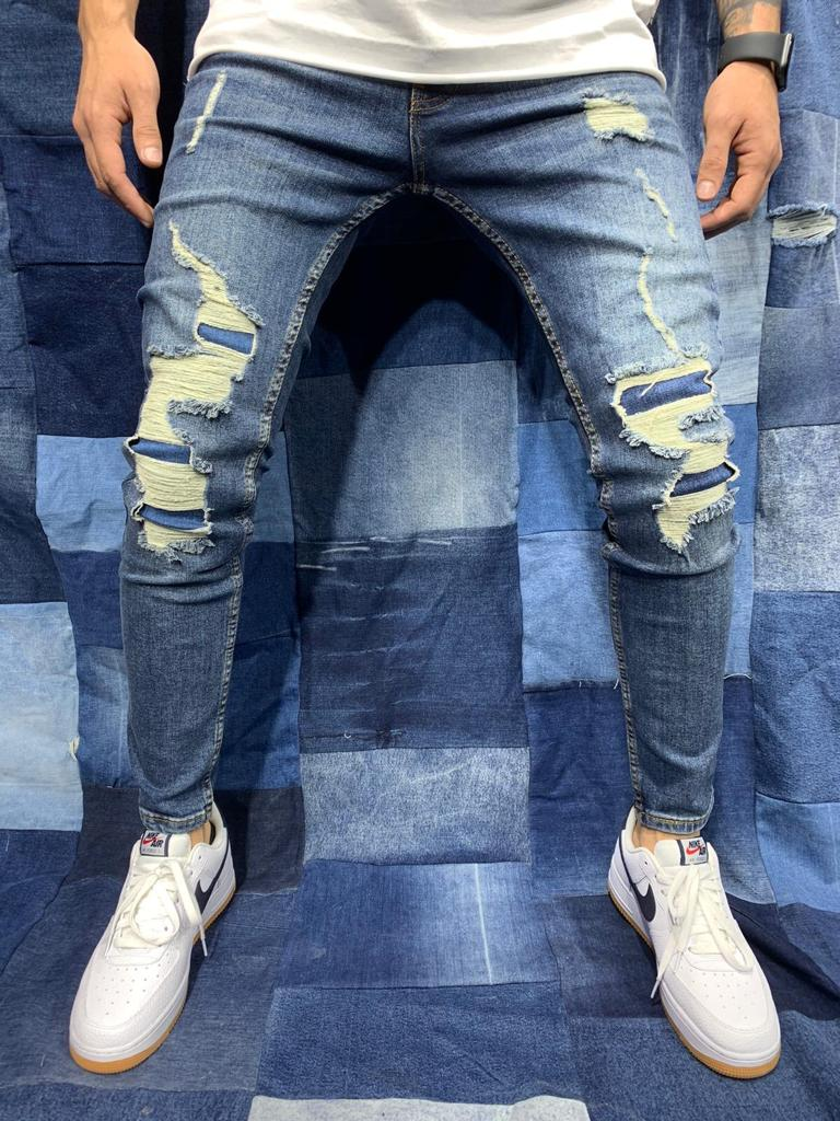 Destroyed Skinny Denim 0113
