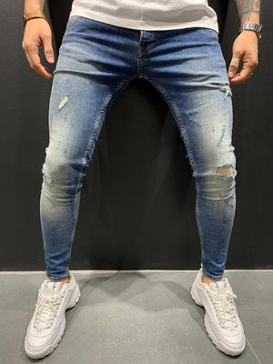 Destroyed Skinny Denim 4654