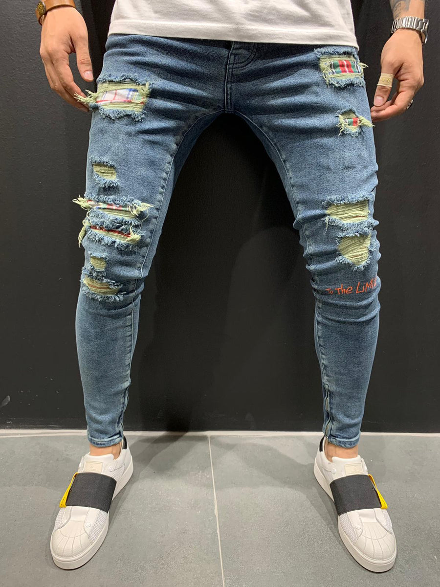 Destroyed Skinny Denim B4662
