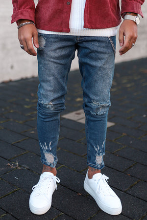 Destroyed Skinny Denim B4780