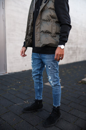Destroyed Skinny Denim İ0045