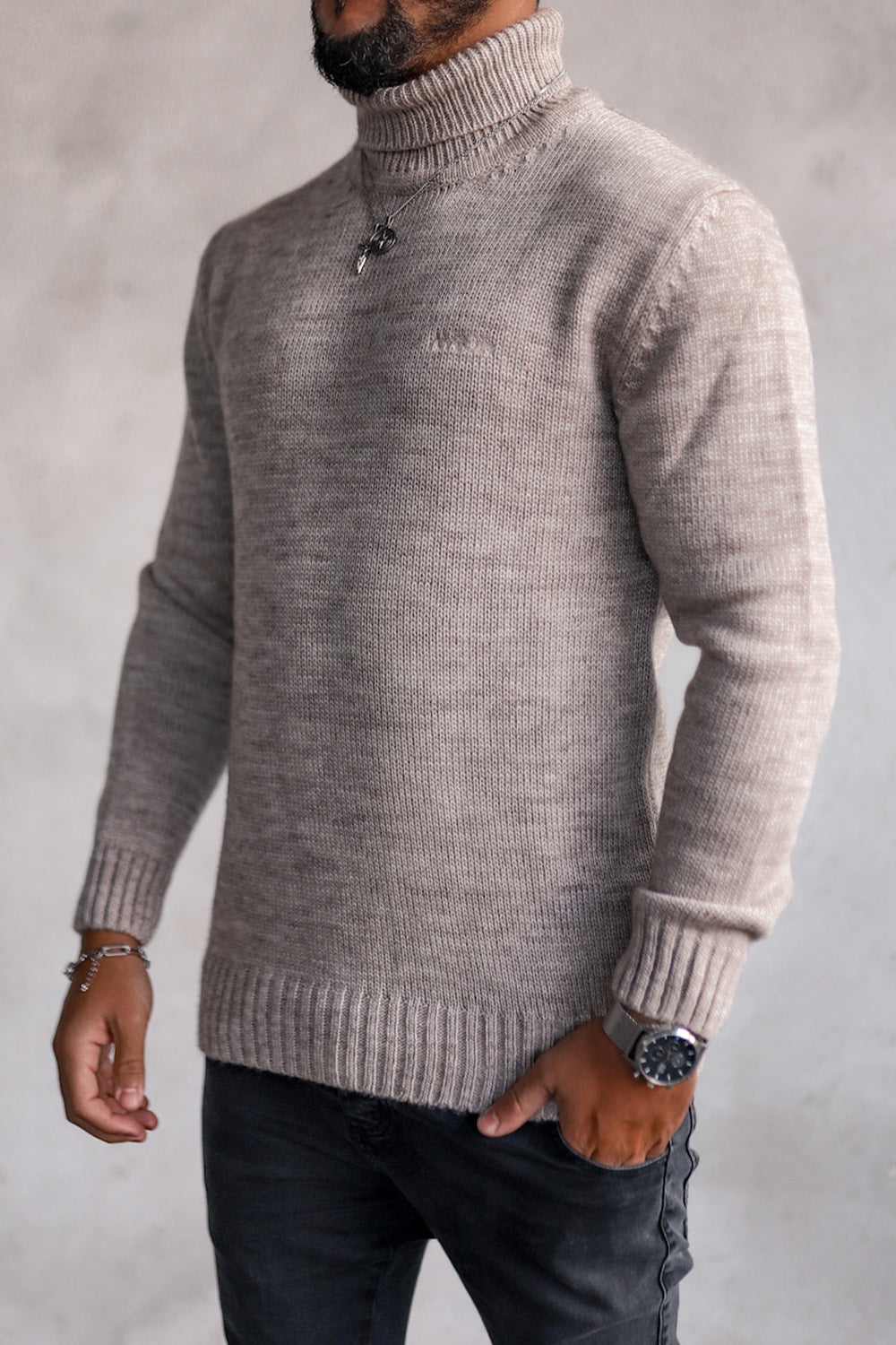 Knit Heavy Turtleneck K4003BE