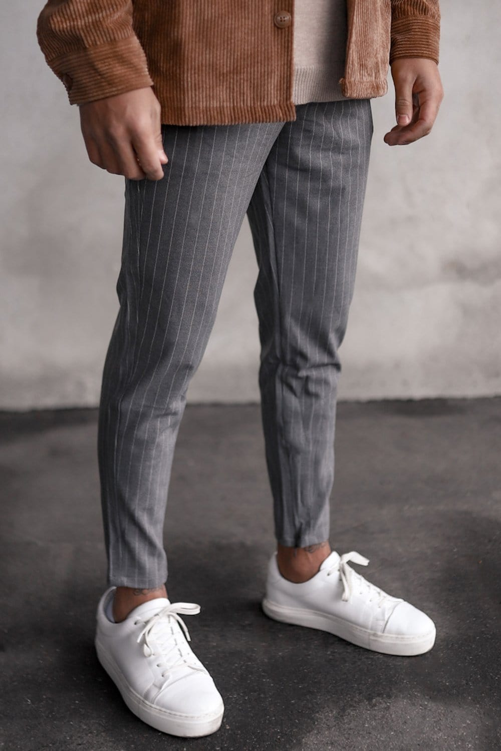 Cropped Pants Pinstripe P1044G