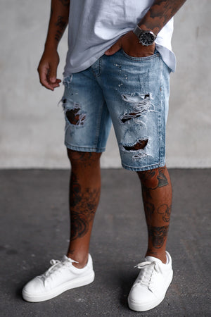 Destroyed Denim Shorts YY0074