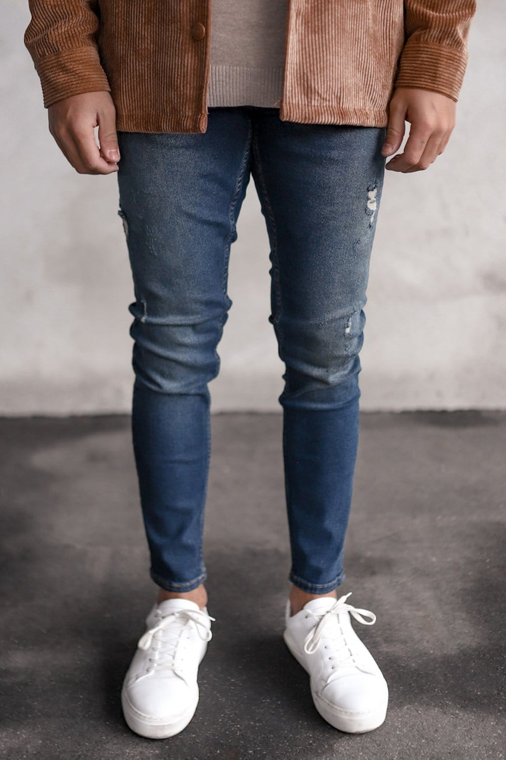 Destroyed Skinny Denim B5725-1