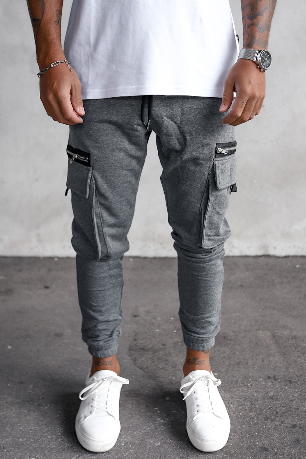 Cargo Sweat Pants With Zip Detail YY1000G
