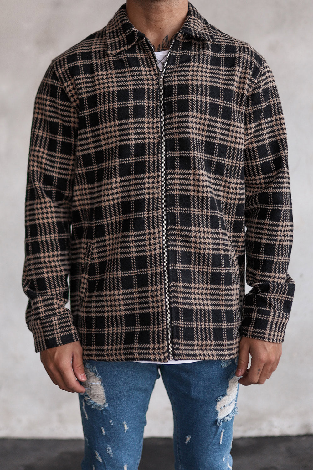 Flannel Zip Shirt S0007B