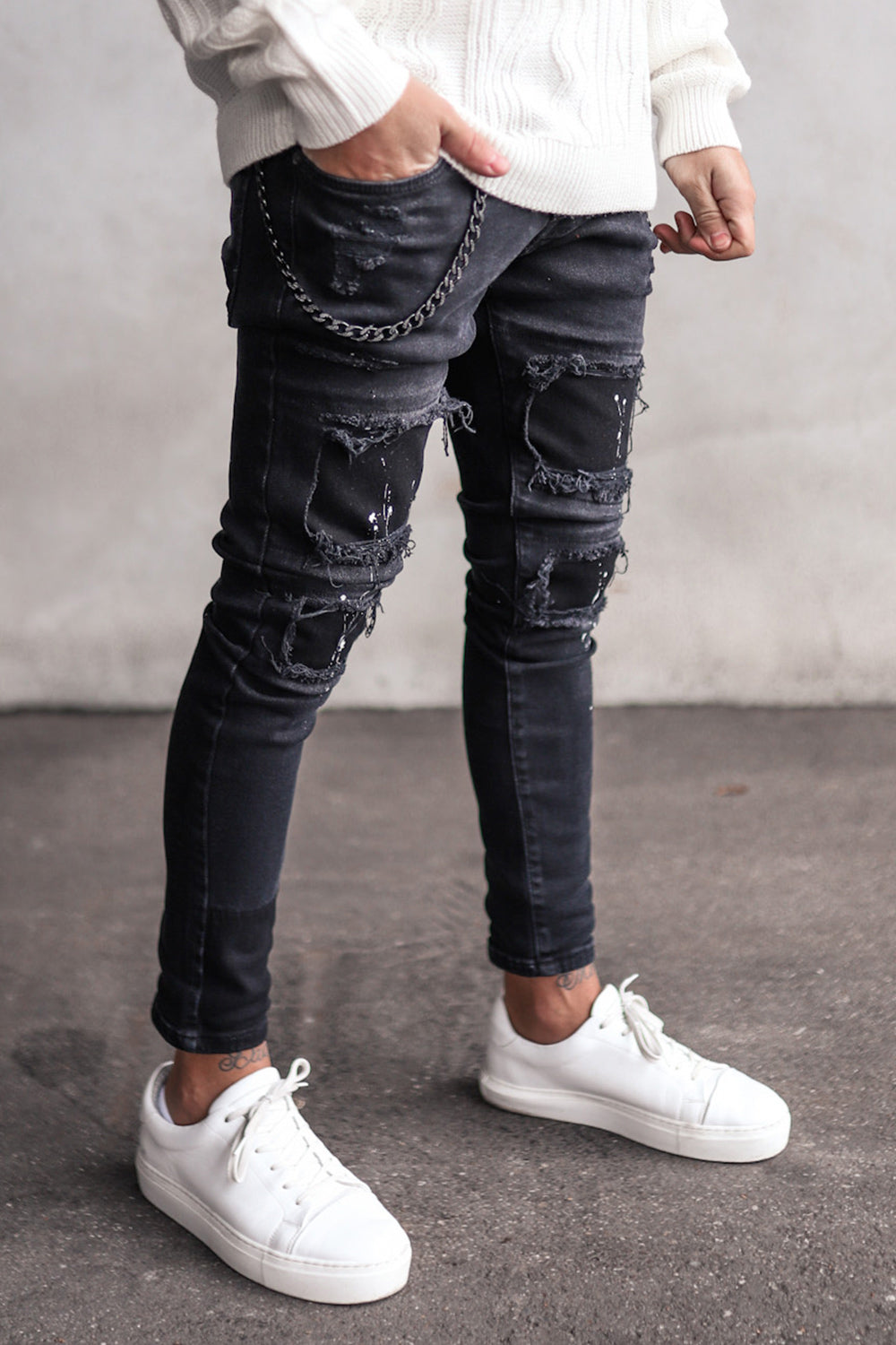Destroyed Skinny Denim B5900