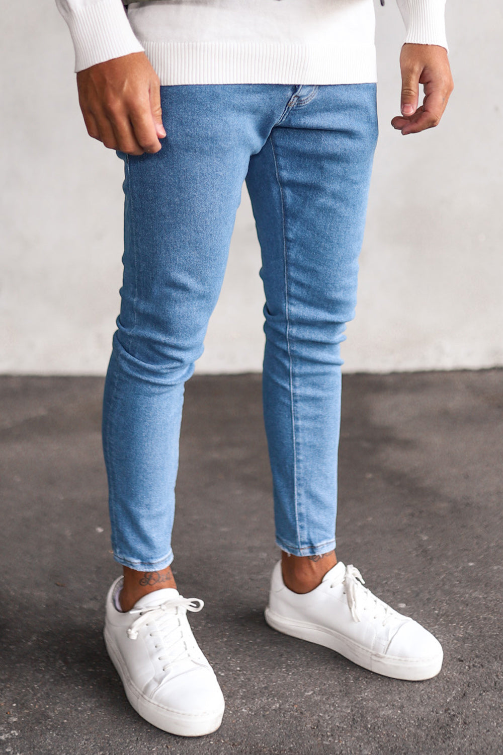 Basic Cropped Skinny Denim B5493