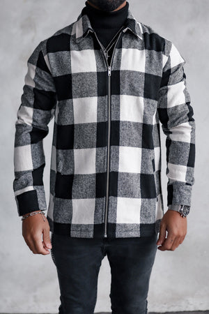 Flannel Zip Shirt Checkered S0007CV