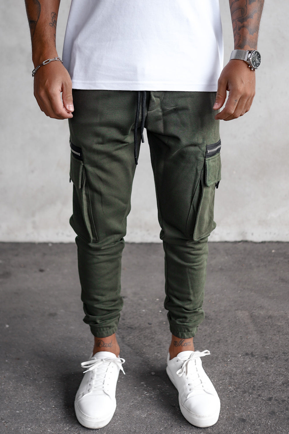 Cargo Sweat Pants with zippers YY1000K