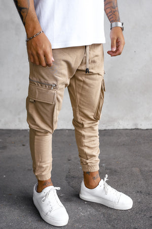 Cargo Sweat Pants With Zip Detail  YY1000BE