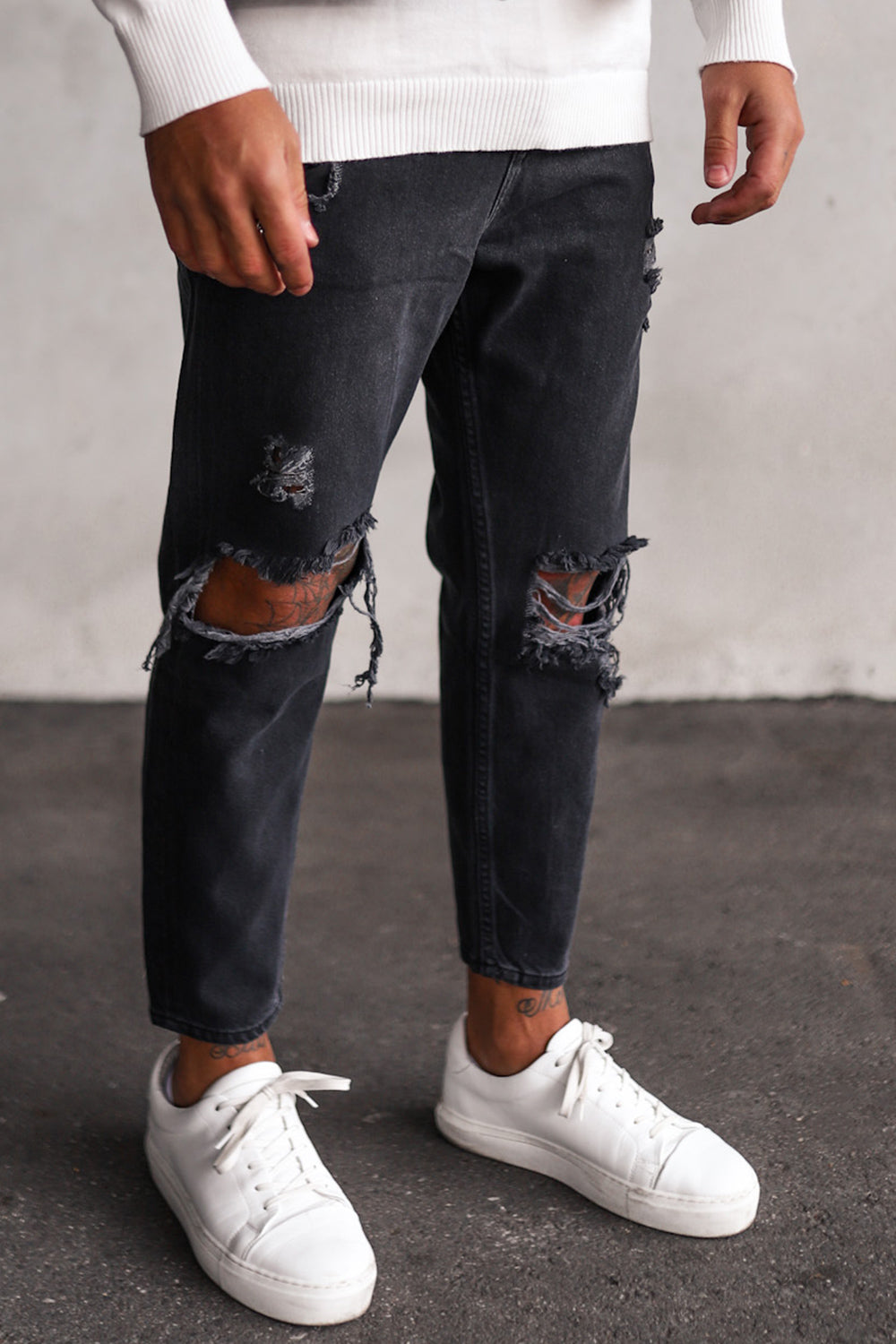 Destroyed Relaxed Denim B5486