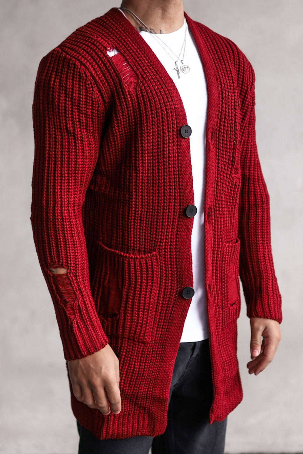 Knit Destroyed Cardigan 7027DR