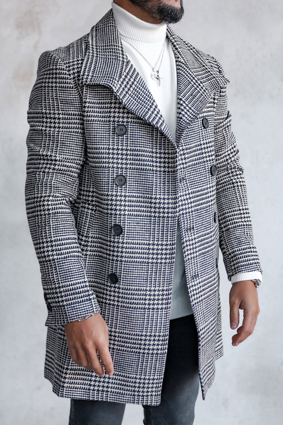 Plaid Coat Checkered C2001CB