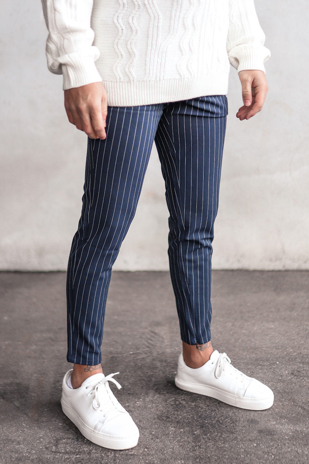 Cropped Pants Pinstripe P1044NB