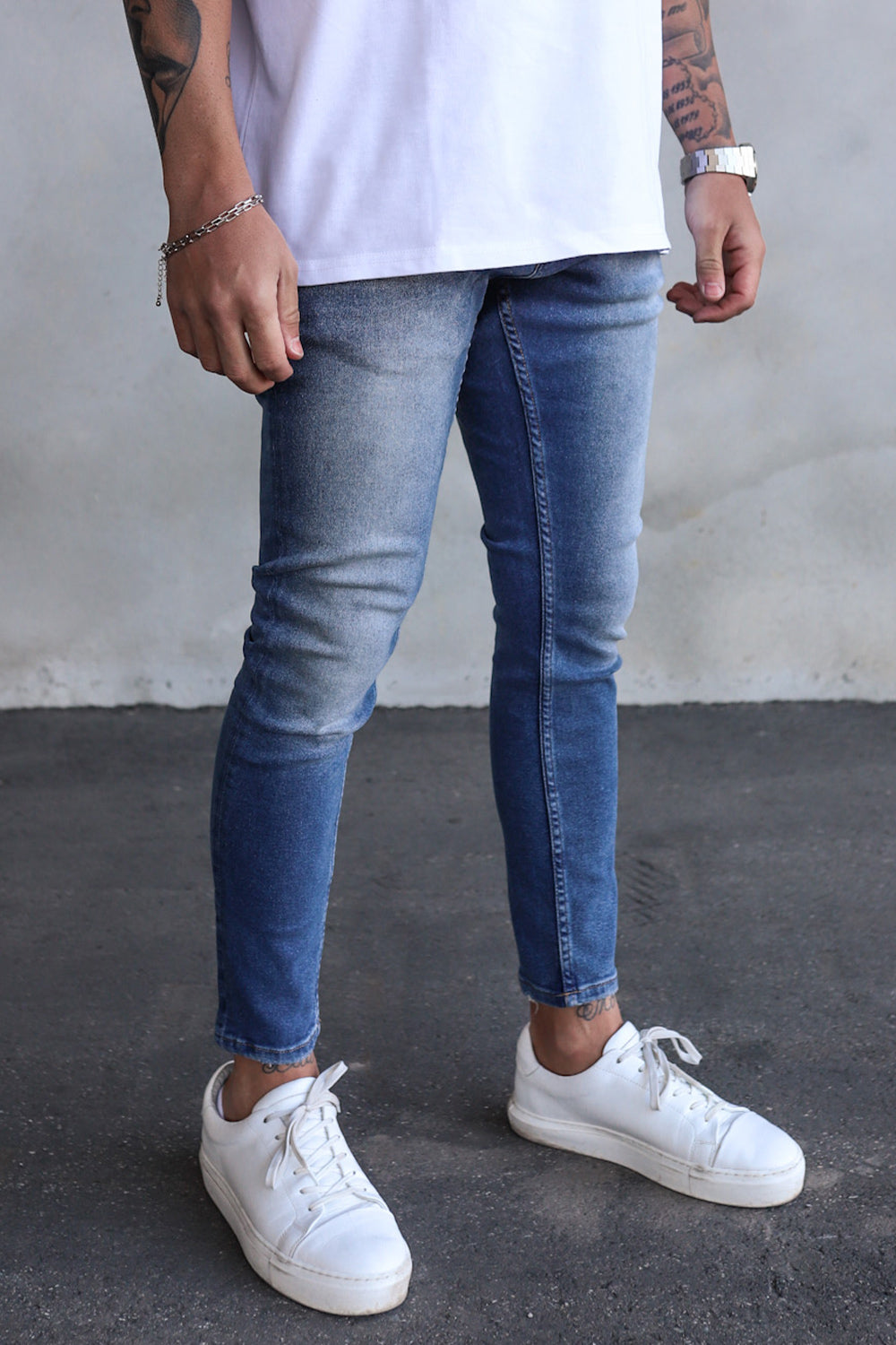 Basic Cropped Skinny Denim B5495