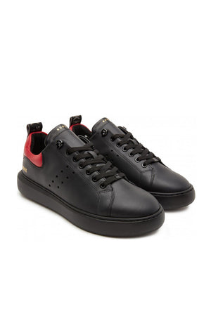 Scott Phantom Sneaker Black Leather Shoes NUBIKK