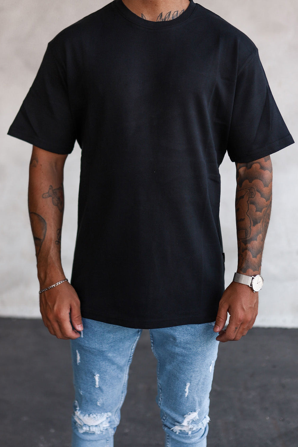 Basic Oversize T-Shirt Black T6005B