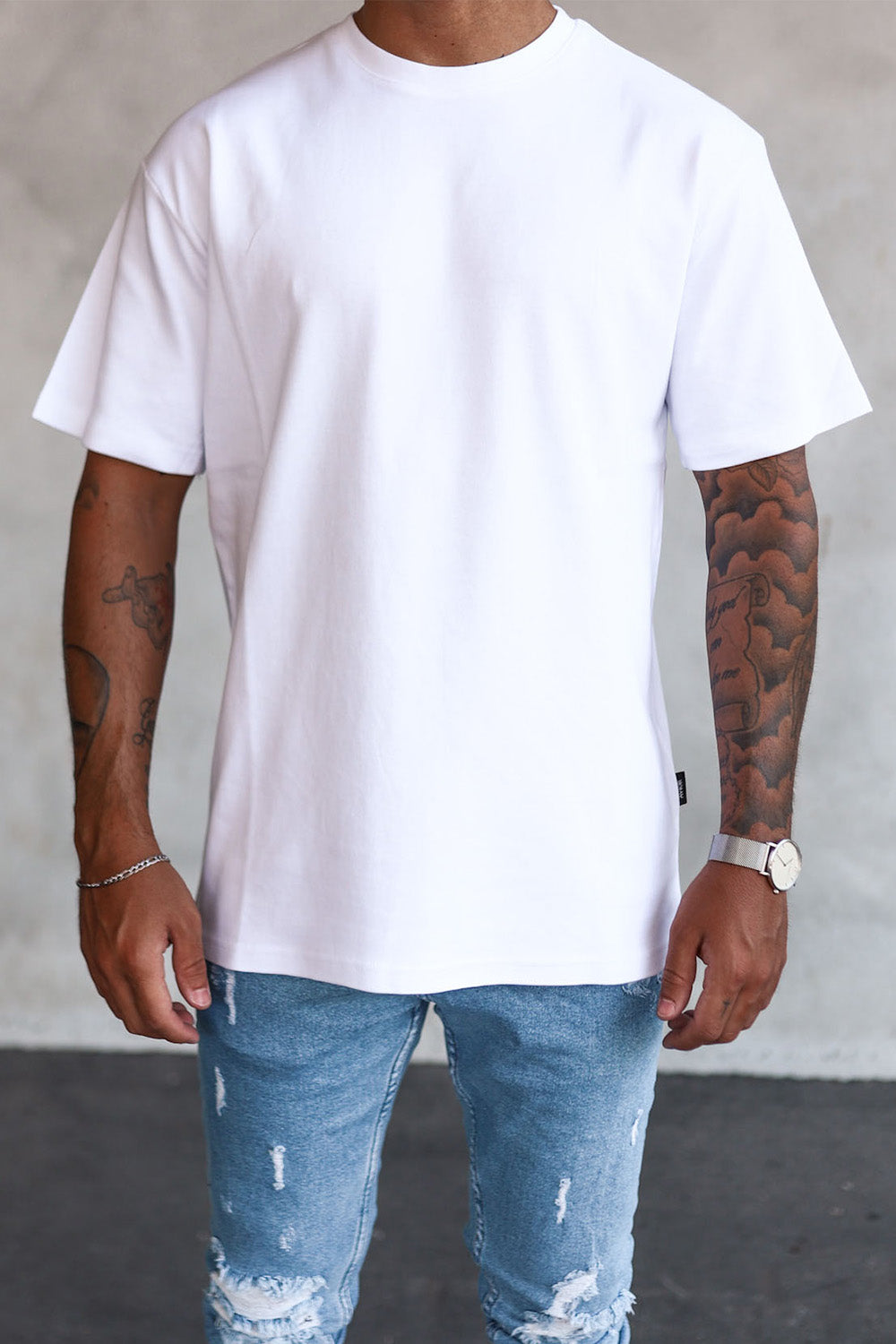 Basic Oversize T-Shirt White T6005W