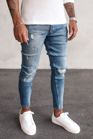 Destroyed Skinny Cropped Denim DVP0027