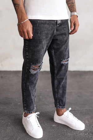 Destroyed Relaxed Denim B5293