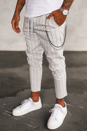 Cropped Stripe Pants P1073LG