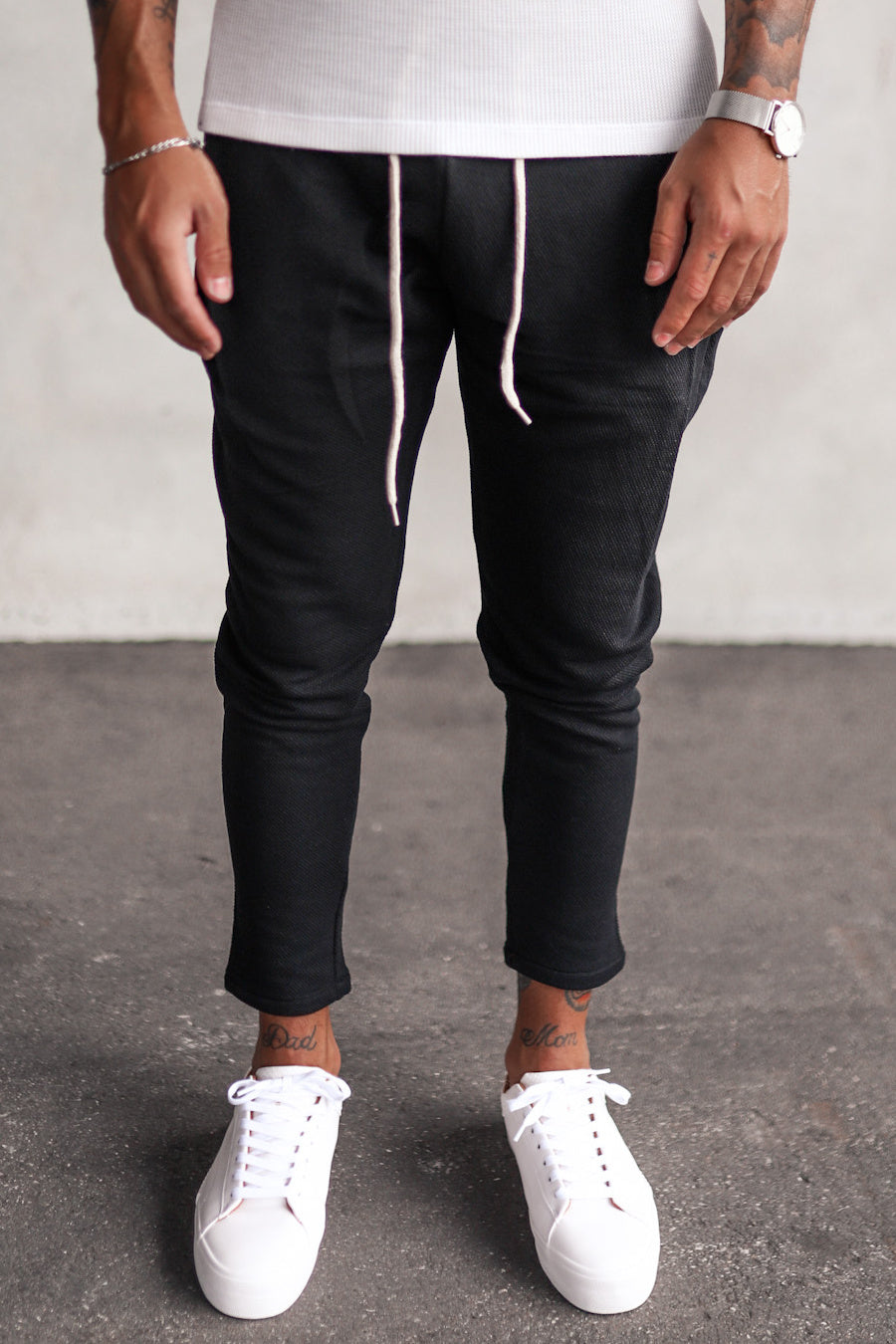 Cropped Sweat Pants P1078B