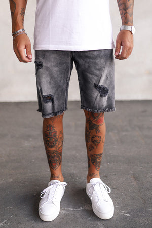 Destroyed Denim Shorts K5120