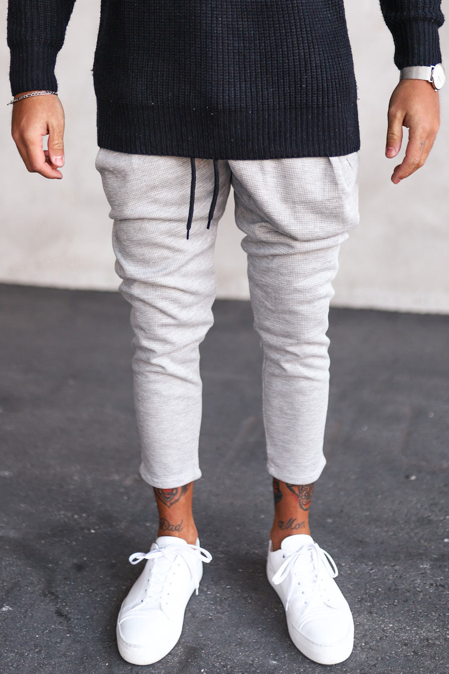 Cropped Sweat Pants P1071LG