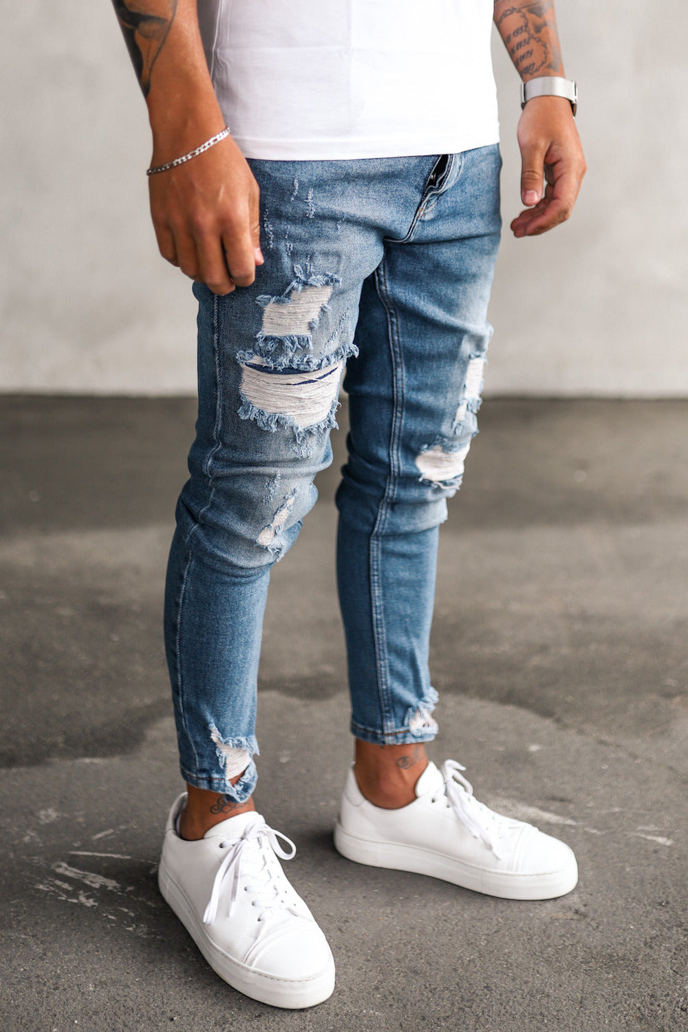 Destroyed Skinny Denim 0121