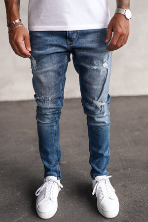 Destroyed Skinny Denim B5209