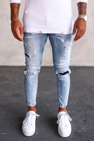 Destroyed Skinny Cropped Denim DPV0026