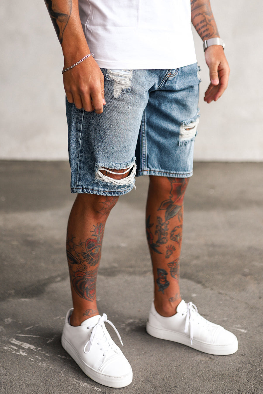 Destroyed Jeans Shorts 0100