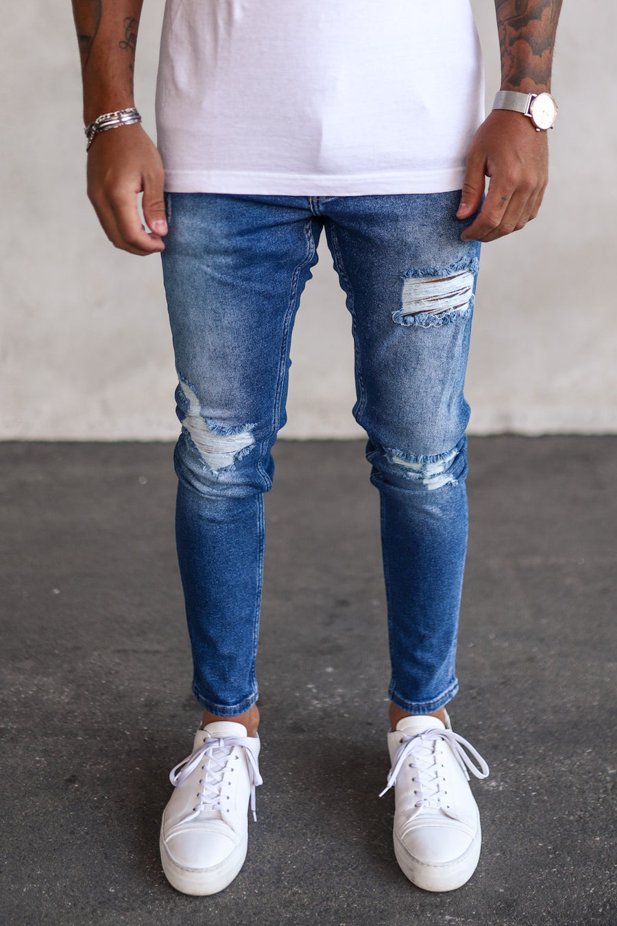 Destroyed Skinny Denim B5260-X