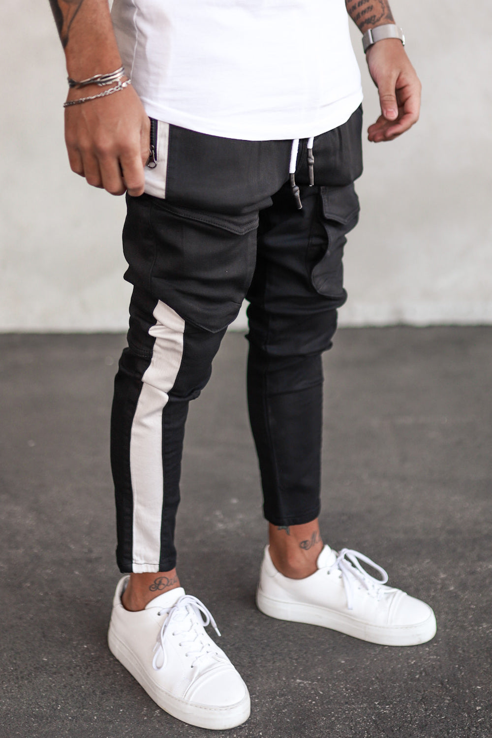 Cargo Pants with Stripes B5223