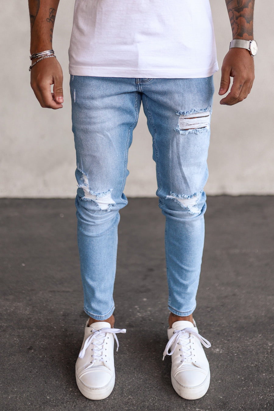 Destroyed Skinny Denim B5260