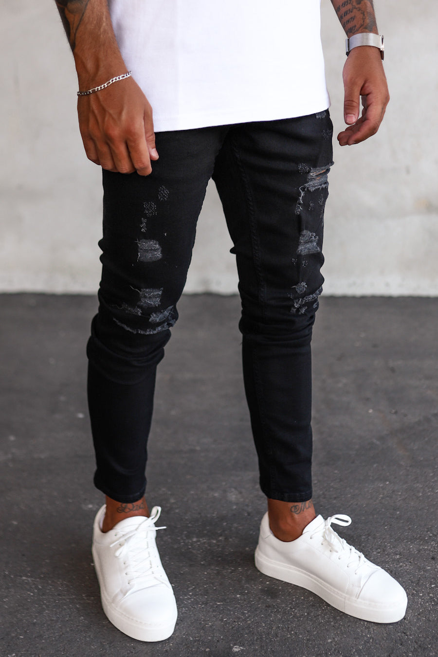 Destroyed Skinny Denim B5463