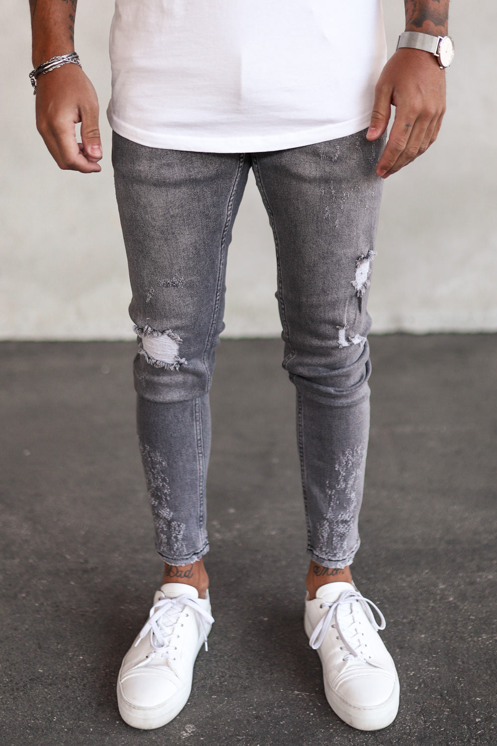 Destroyed Skinny Denim B5261G