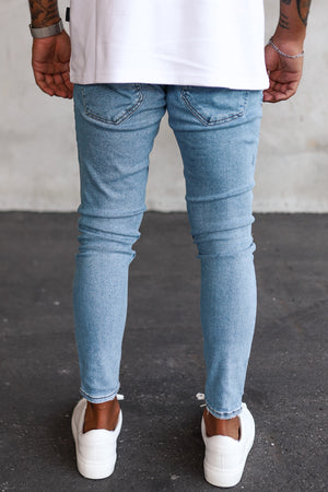 Destroyed Cropped Skinny Denim B5453