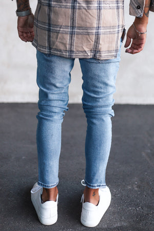 Destroyed Skinny Denim 1014