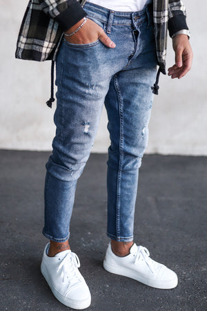 Destroyed Skinny Denim CY001