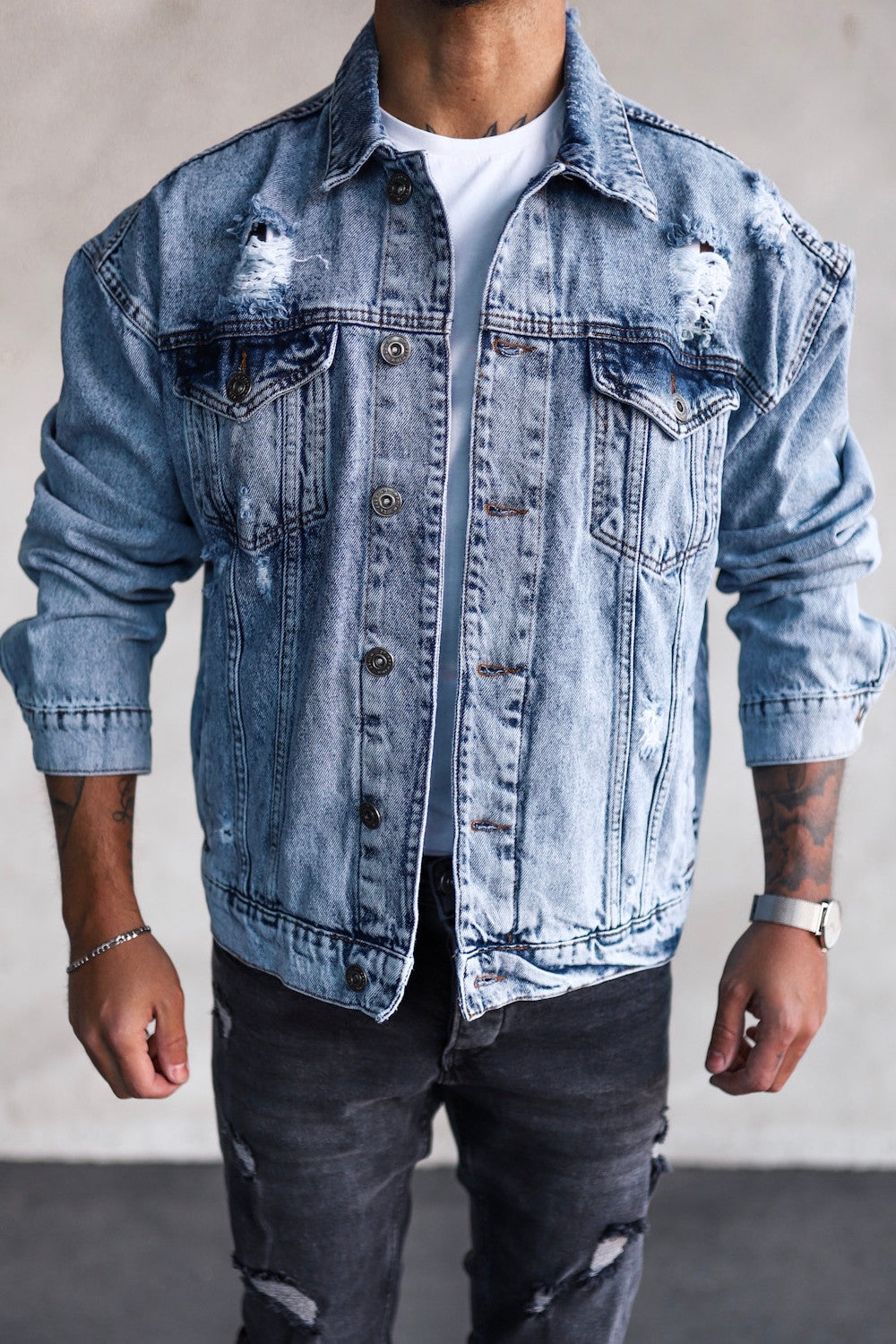 Oversize Denim Jacket M0087