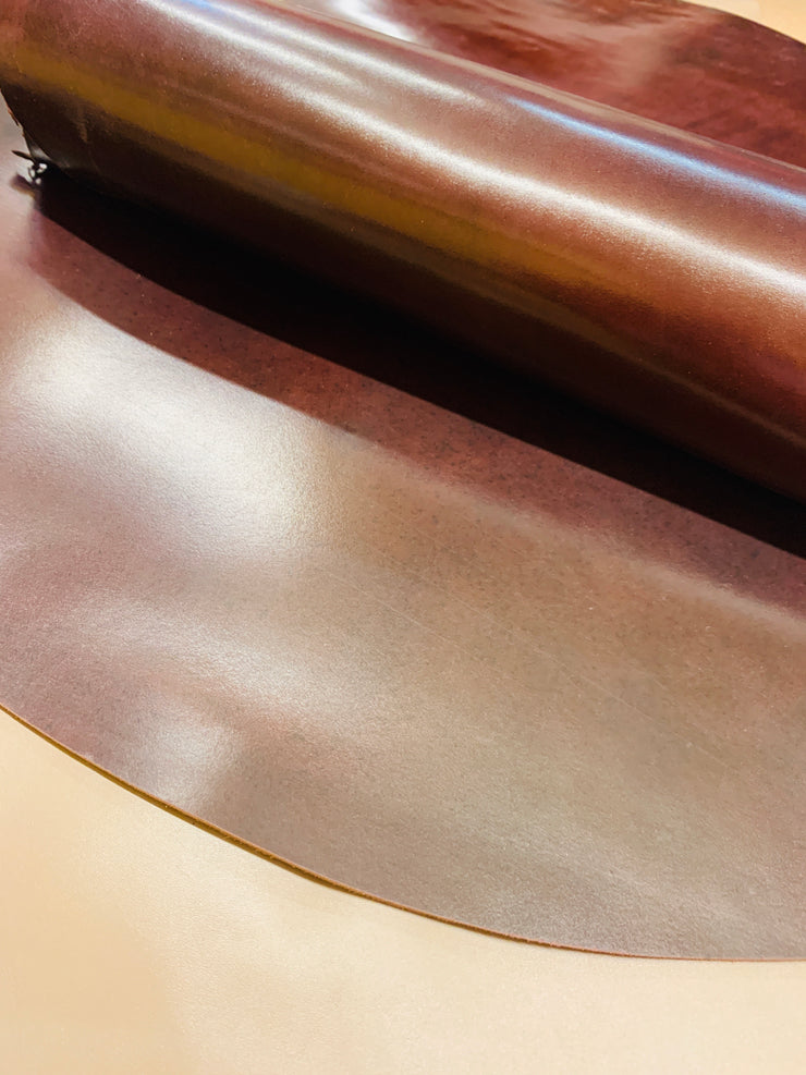 Shell Cordovan Leather Brown
